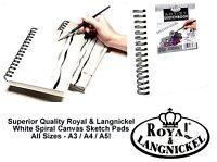 Canvas Spiral Sketch Book Sketching Pad Cartridge Paper Hardback Drawing Book