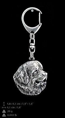 Newfoundland Dog Crystal Keyring High Quality Crystal Animals CA Keychain