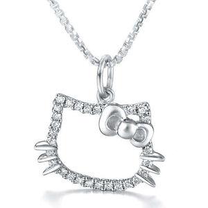 Halskette-925er-Sterling-Silber-Hello-Kitty-Swarovski-Elements-Anhaenger-Zirkonia