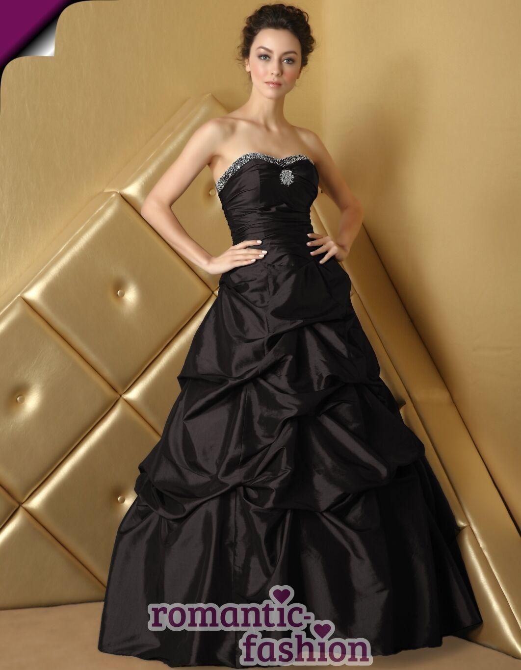 ♥Ballkleid, Abendkleid in Schwarz Größe 34 bis 58 zur Auswahl+NEU+E468♥