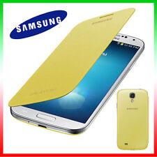 2X PELLICOLA+Custodia originale Samsung pr Galaxy S4 SIV i9505 Flip Cover GIALLA