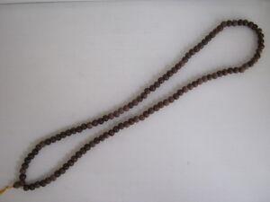 "Tibet Bodhi wood Buddhist prayer bead necklace 49"" length"