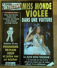 nouveau DETECTIVE n°853 du 20 janvier 1999 miss monde delphine nantes milan