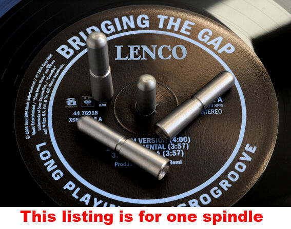 Lenco L75, GL75 Turntable Platter Spindle Extension. Stainless Steel Version.