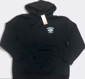 Harley-Davidson-XL-Men-039-s-Black-Hoodie-pullover-sweatshirt-NEW