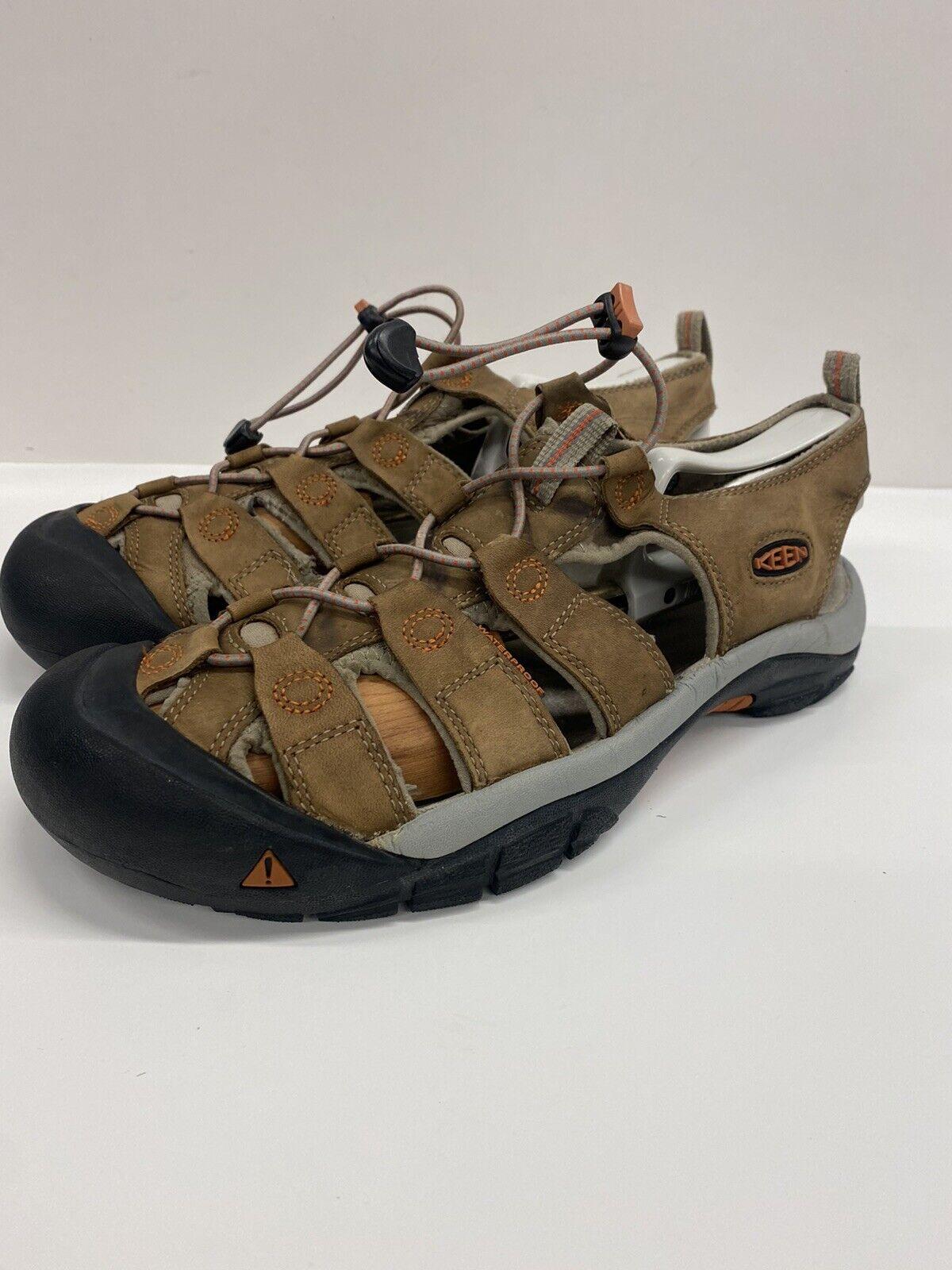 Keen Men's Newport Brown Drawstring Hiking Trail Pool Sandals Size 10