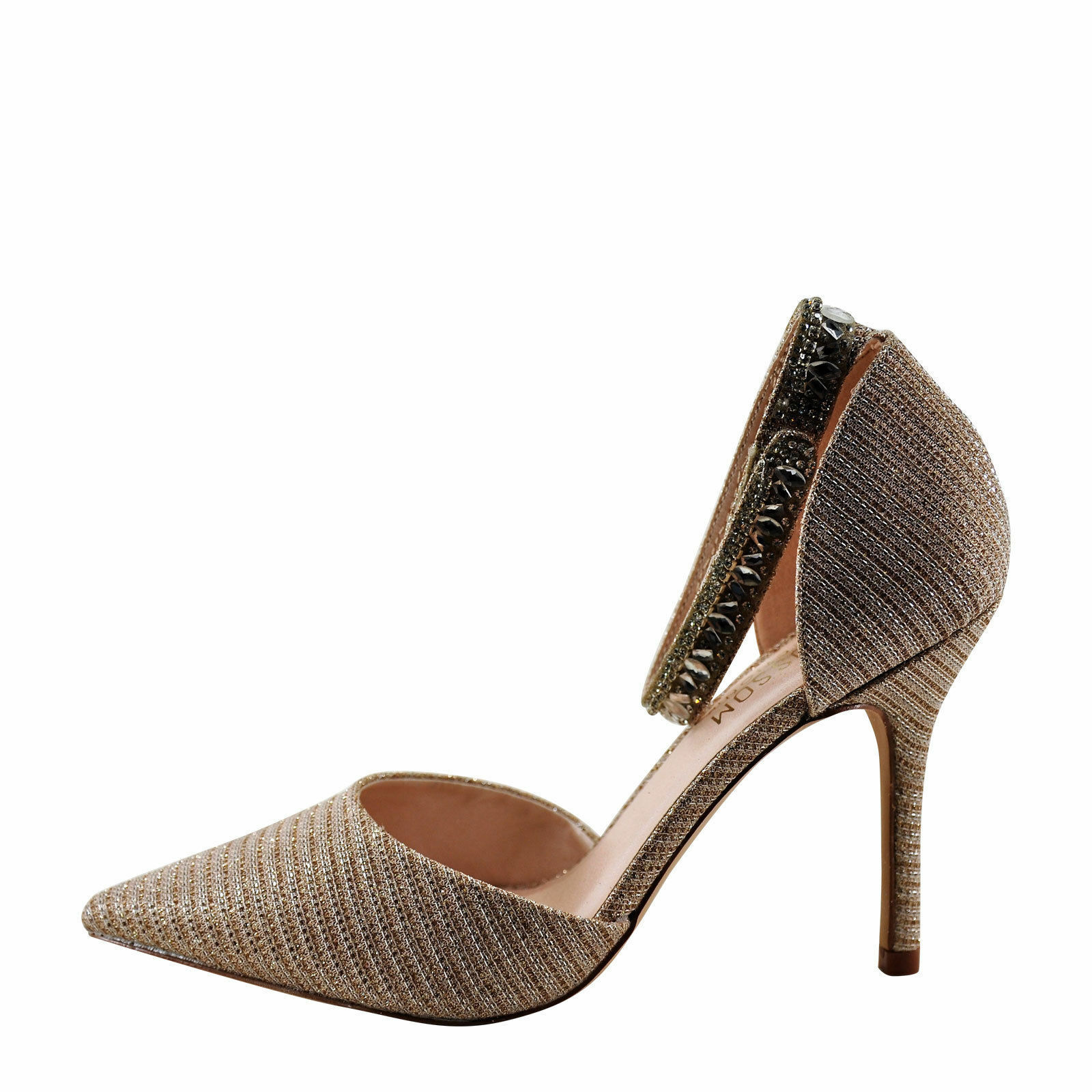 Blossom Renzo 65 Nude Women's Pointed Toe Ankle Strap Heel