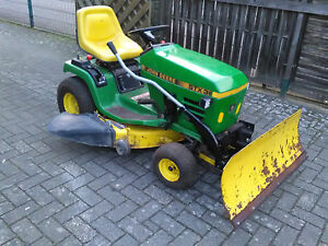 rasentraktor aufsitzm her john deere stx 38 inklusive schneeschild ebay. Black Bedroom Furniture Sets. Home Design Ideas