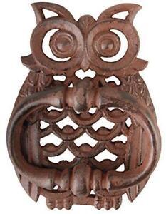 Image Is Loading Owl Cast Iron Door Knocker Accessories Vintage Rustic