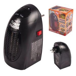 Starlyf-Fast-Heater-Portable-Miniheizung-400-Watt-Black-for-Socket-New