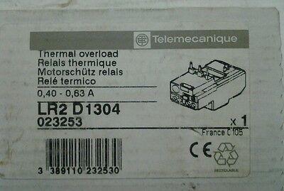 63A NEW TELEMECANIQUE LR2-D1304 OVERLOAD RELAY .40