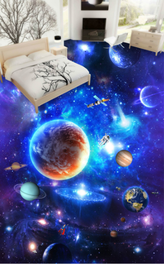 3D Space Planets 78 Floor WallPaper Murals Wall Print Decal 5D AU Lemon