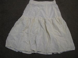 LADIES-IVORY-CREAM-SKIRT-SIZE-10-PLEATS-RUFFLES