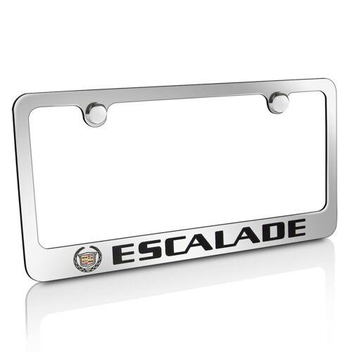 Cadillac Escalade Chrome Metal License Plate Frame