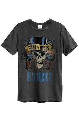 Amplified - Guns N Roses Use Your Illusion Herren T-shirt (grau) (s-xl)