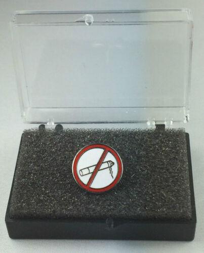 Hazard Warning Quality Enamel Lapel Pin Badge In Gift Box No Smoking