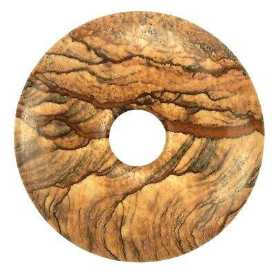 Details about  /Breckzien Jasper Donut Pendant Gemstone 1 3//16in Slice Stone Pi Healing
