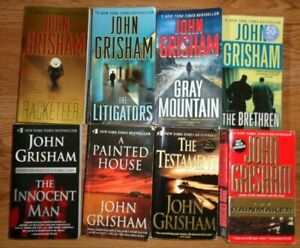 Lot-of-8-John-Grisham-Books-Legal-Thrillers-Racketeer-Gray-Mountain-Testament-A