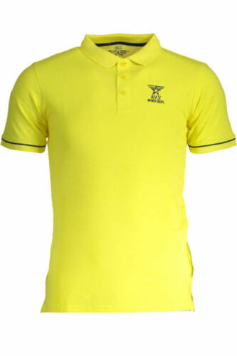 Polo uomo manica corta Avirex gialla 100/% cotone