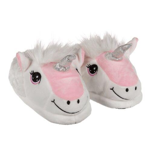 Licorne Femmes Pantoufles Mules Unicorn 37//38 39//40 41//42 peluche Chaussures Neuf