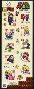 Giappone-2017-Super-Mario-computer-gioco-cartoni-animati-personaggi-fumetti-8589-8598-MNH