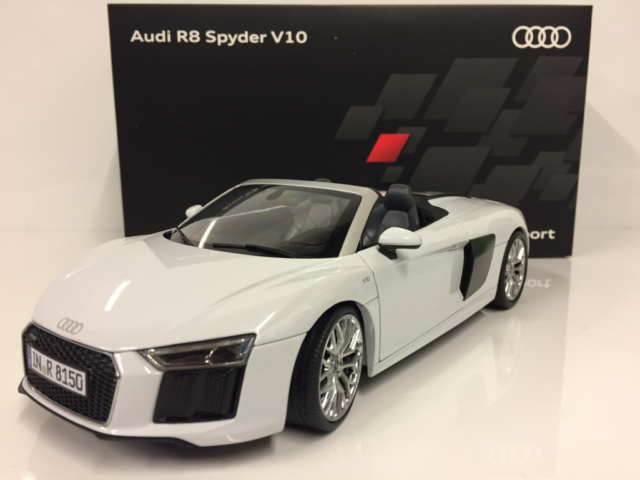 audi r8 spyder v10 suzuka grau 1 18 iscale for sale online | ebay