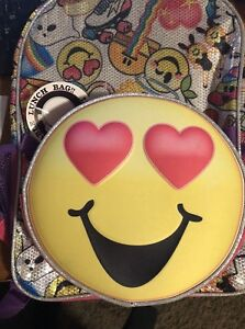 Details about NWT Love Heart Face Emoji Large 16