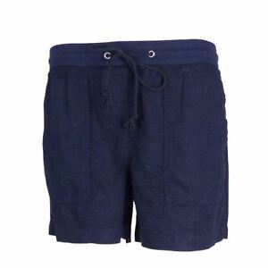 Ex-M-amp-S-Marks-And-Spencer-Tie-Waist-Linen-Rich-4-Pocket-Shorts
