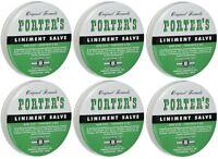 6 Pack Orginal Formula Porter's Liniment Salve 2 Oz Cuts Burns on sale
