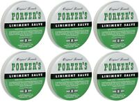6 Pack Orginal Formula Porter's Liniment Salve 2 Oz Cuts Burns on sale