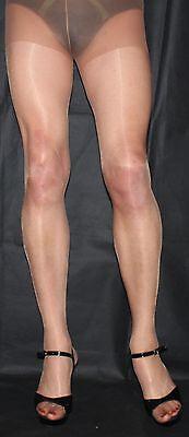 3 Pairs Of Beautiful Nearly Tan High Sheen 10 Denier Tights Medium/Small size