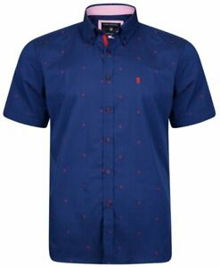 Kam-Mens-Big-amp-Tall-Casual-Short-Sleeve-button-down-collared-Dress-print-Shirt