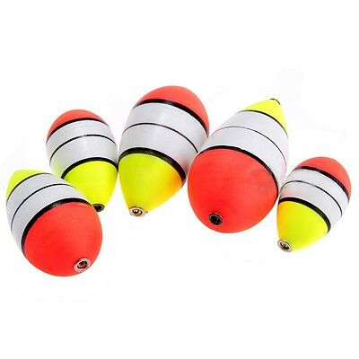 5 Pcs Foam Fishing Floats Bobbers Drift Tube Indicator Set Outdoor High Quality