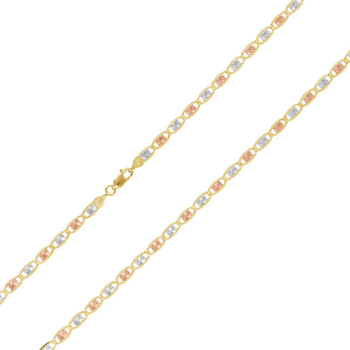 """Details about  /14K Solid Yellow Rose White Gold 2.6mm Star Valentino Chain Pendant Necklace 16/"""""""