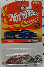 MOTORCYCLE BITCHIN BIKE PIT CRUISER RED # 21 SERIES 1 CLASSICS HW HOT WHEELS