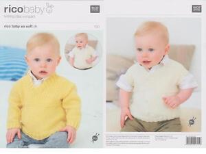 RICO 091 BABY CLASSIC DK HATS ORIGINAL KNITTING PATTERN 3 STYLES 0-4 YEARS