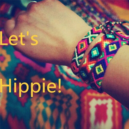 Bracelet de l/'amitié tissé à la main corde chaîne hippy hippie broderiebracelet