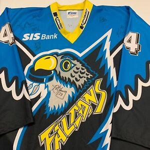 Vintage-Springfield-Falcons-Minor-League-Hockey-AHL-Jersey-Adult-XXL-Autograph