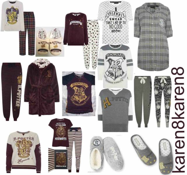 HARRY POTTER Ladies Pyjamas Primark HOGWARTS MARAUDERS MAP
