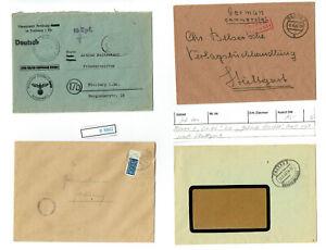 B8882-All-Bes-Briefe-5-Stueck-teils-alte-Auktionslose-034-Gebuehr-bezahlt-034-BILDER