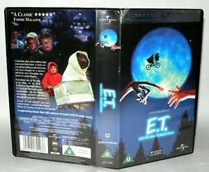 E-T-The-Extra-Terrestrial-Children-039-s-VHS-Tape-amp-Case-VHS-Collectable