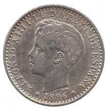 ESPAÑA: 10 Centavos plata 1896 ISLA DE  PUERTO RICO Rey Alfonso XIII