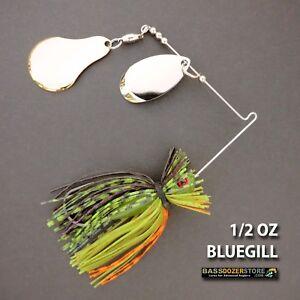 Bassdozer spinnerbaits FINESSE CHOPPER 1//2 oz H BLUEGILL spinner bait baits