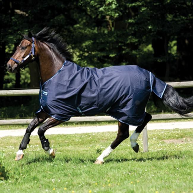 Horseware Amigo BRAVO 12 Turnout Heavy 400g  Pony Navy & biancacoperta pascolo