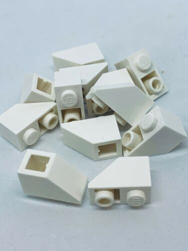 LEGO 1x2 SLOPE INVERTED LOT OF 12 ANGLE ROOF TILE PART PIECE #3665 1 X 2 WHITE