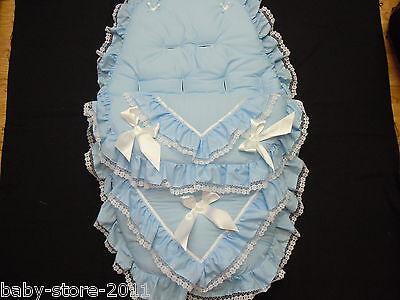 Bellissimo. Carrozzina Cosytoes / Footmuff. Rom.. Stile Bling Colore Baby Blu- Essere Accorti In Materia Di Denaro