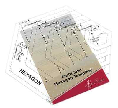 Sew Easy Multi tamaño hexagonal NL4170 regla de plantilla
