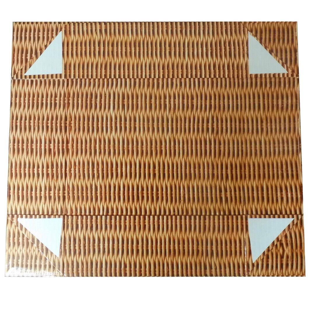10 Cajas Cesto Cesta de Regalo-Efecto De Mimbre cartón regalo vacía Bandejas 20x15x5cm