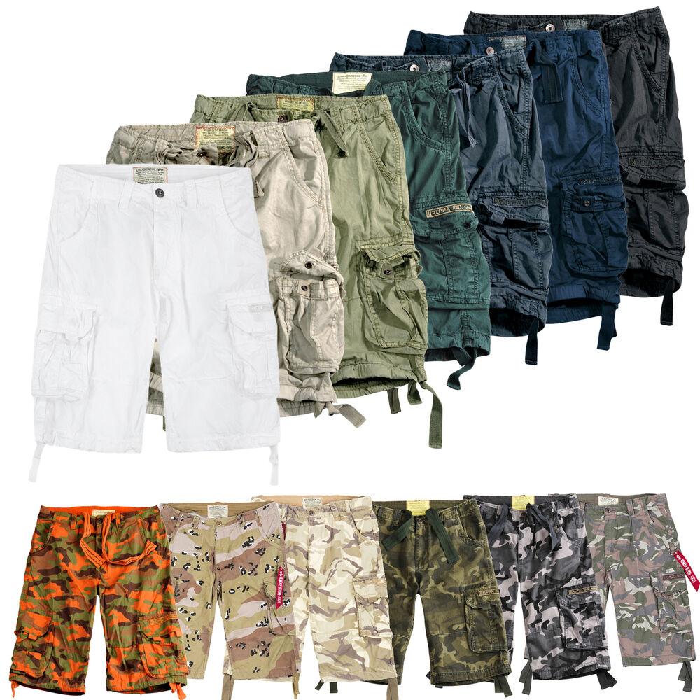 Alpha Industries Hommes Shorts Jet Short Sweatshorts Pantalon Court