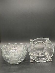 Set-of-4-ARCOROC-USA-Glass-Scalloped-Rim-Dessert-Salad-Bowls-4-3-4-034-VTG